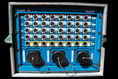 Splitter radial v8 32 canaux à transformateurs jensen