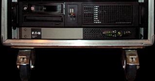 Notre station d'enregistrement Protools HD avec enregistreur redondant et l'onduleur pour la sécurité